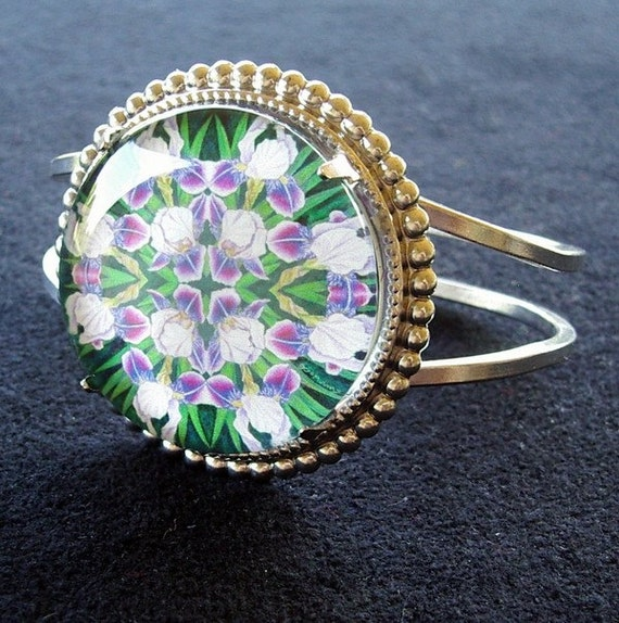 Iris Jewelry Bracelet Kaleidoscope Mandala Art Dividing Line