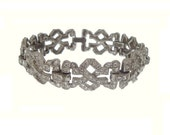 Art Deco Bracelet Vintage 1920s Rhinestone Deco Wedding Jewelry