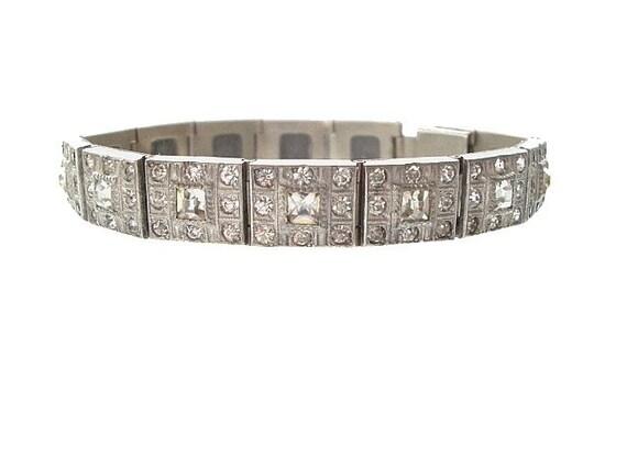 Art Deco ALLCO Bracelet, 1920s A. L. Lindroth Co. Vintage Bracelet