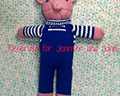 Puddle - Amigurumi Doll - Knitted Pig