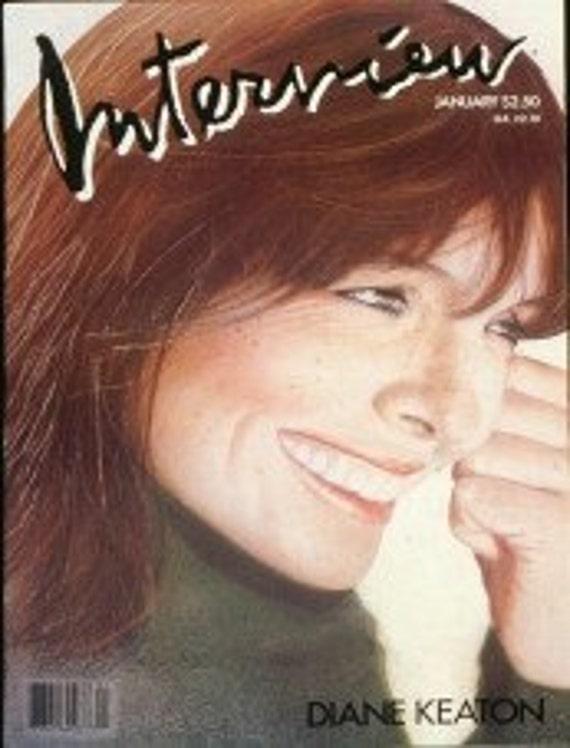 Vintage Andy Warhol's INTERVIEW Magazine, Diane Keaton  January, 1987