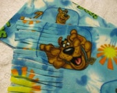 Five Buck Fleece Scarf Blow Out Only at SylMarCreations!  Winter  Fleece Scarf  Scooby Doo Fleece Scarf Hot On The Trail Pic