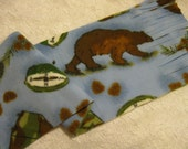 500+ Scarf Print Selection! Only at SylMarCreations!  TWO LEFT  Wilderness Camping  Winter  Fleece Scarf Bear Tents