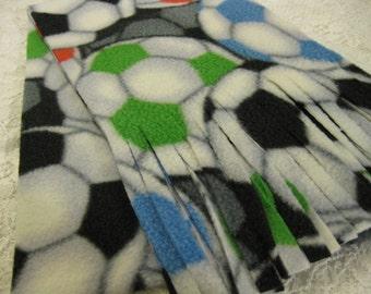 Five Buck Fleece Scarf Blow Out  at SylMarCreations! * Soccer Balls Winter  Fleece Scarf Fleece