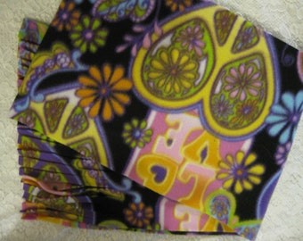 450+ Scarf Print Selection! Only at SylMarCreations!  Last One Psychedelic Seventies Scarf Winter  Fleece Scarf