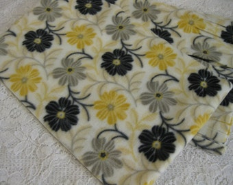 Five Buck Fleece Scarf Blow Out  * Flower Lines Winter Fleece Scarf