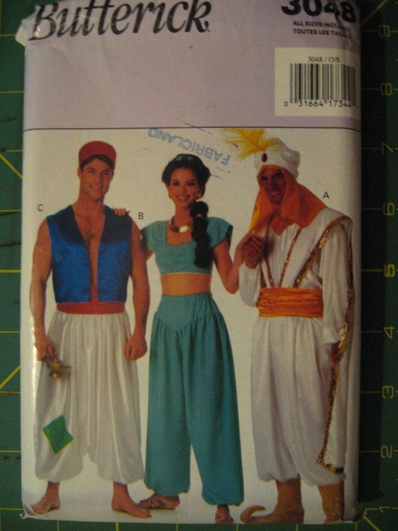 Halloween Costume Pattern Disney Aladdin by SylMarCreations