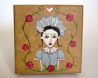 Violetta - an original folk art painting