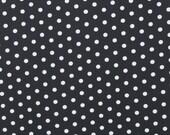Robert Kaufman Pimatex Basics Polka Dot in Black-  5 yards SALE fabric