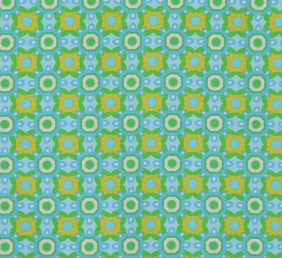 SALE Pretty Bird By Pillow and Maxfield, Aqua Ground Cover, 1 Yard