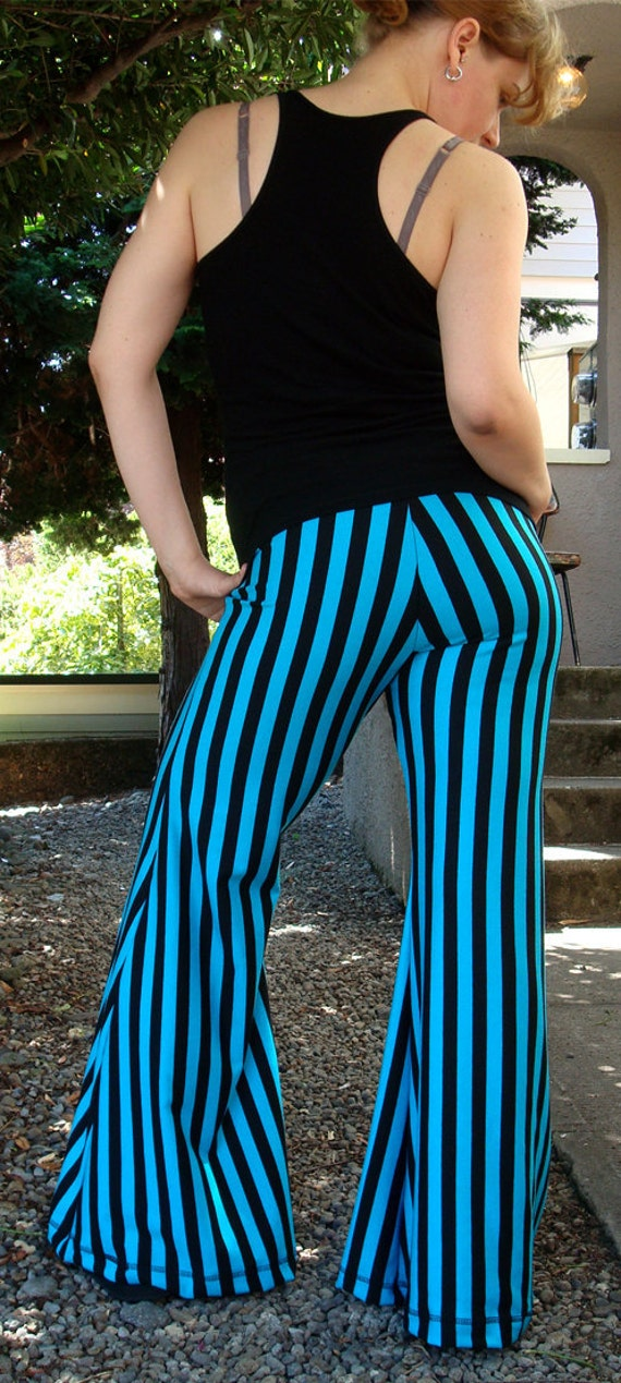 Black and Blue Miracle Worker Pants  --  Size Large
