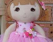 Sew Sunshine - Cecile  Ballerina - Handmade Soft Cotton Doll