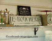 Le Boucherie French Butcher vintage sign chippy farm style