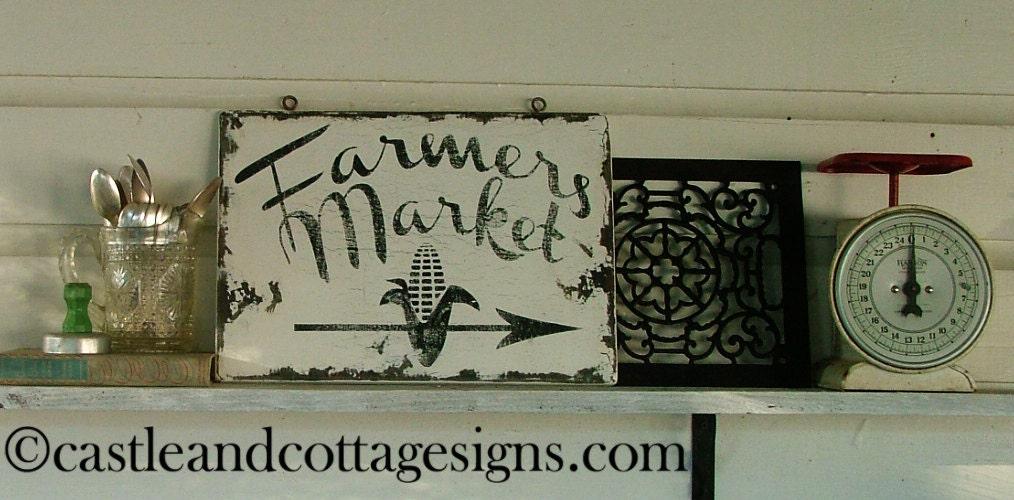 Vintage Farmers Market Sign Farmers Market Roadsid...
