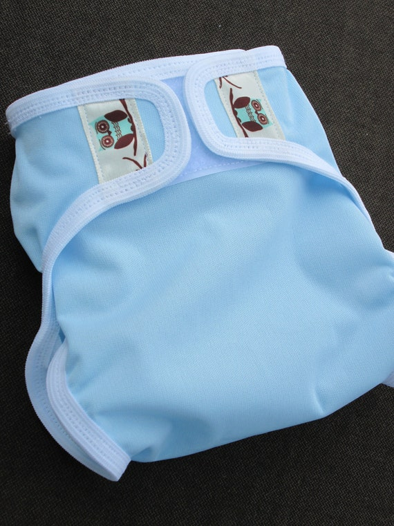 Small (newborn) waterproof pul cloth diaper cover wrap with leg gussets