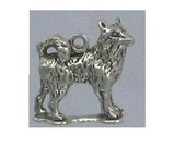 CUSTOM for ANGELA Husky Sterling Silver Charm -- Complimentary Ribbon or Cord