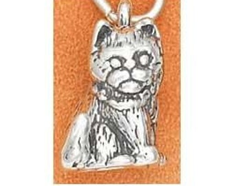 Kitten Sterling Silver Charm -- Complimentary Ribbon or Cord