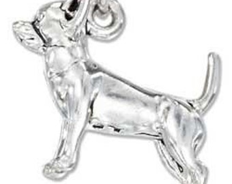 CHIHUAHUA Sterling Silver Charm -- Complimentary Ribbon or Cord