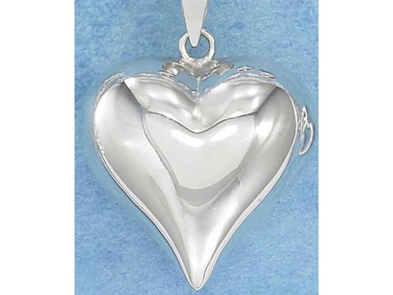 Large Sterling Silver Heart -- Complimentary Ribbon or Cord