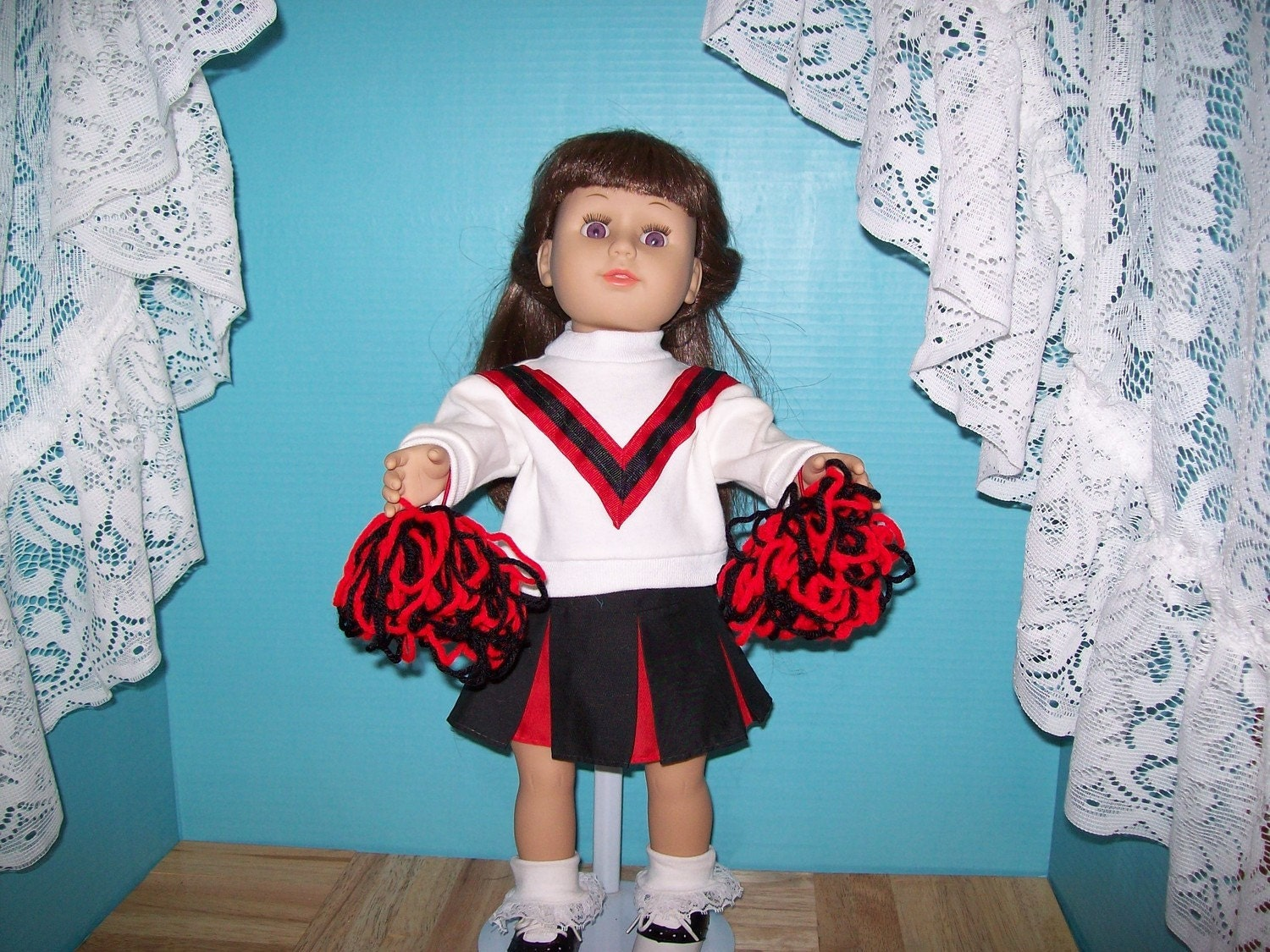 Red Black and White Cheerleader Outfit