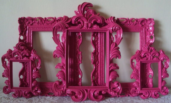 5 Any Color Picture Frames Cottage Shabby Chic 5 Open Frames