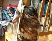 Nuno felted scarf natural colors