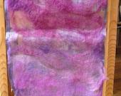 Nuno felted purple scarf