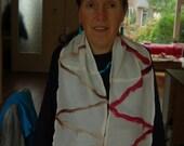 Silk felted scarf