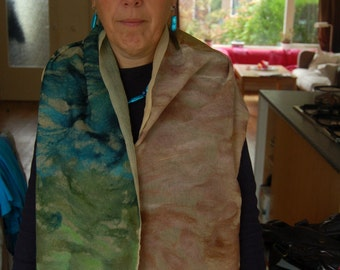 nuno felted scarf summertree