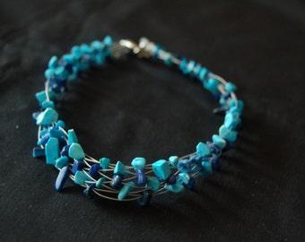 lapis/turquoise necklace/choker