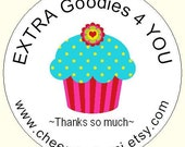 Cupcake Personalized  Labels for your Extras 45