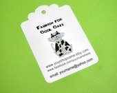 200 Custom Hang Tags - Scallop Topped - Hand Punched
