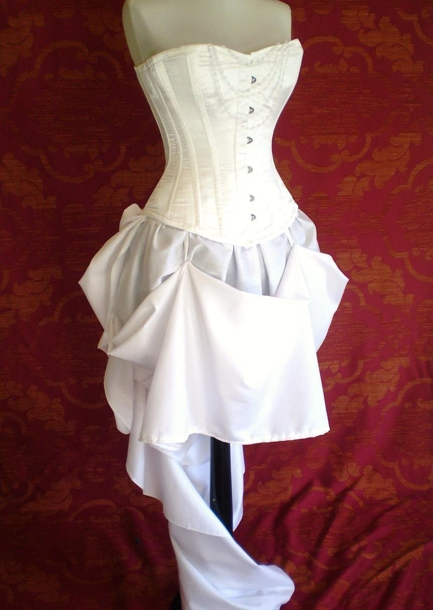 White Queen Steel Boned Halloween Corset By AliceAndWillow