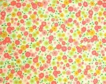 Fabric by the yard - Kitty Calico fabric - Pink - Alexander Henry - 1 yd