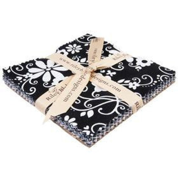 SALE Riley Blake Tuxedo Collection Stackers Bundle - 24 -5x5 squares- Black and White