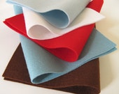 100% Wool Felt Fabric Sheets Squares Set   No Place Like Home Color Story