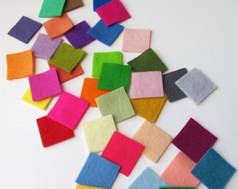 Wool Felt Swatches, Felt Sampler, Choose Nine Swatches, Felt Color Samples, Fabric Swatch, Color Card, Felt Swatch Card, Felt Squares