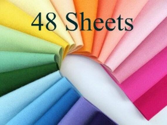 Wool Felt, CHOOSE 48 sheets, 100% Wool, Pure Merino Fiber, Felt Assortment, Bulk Felt Set, Soft Felt, Ethically Sourced Wool, Certified Safe