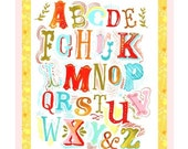 Alphabet with Frame art print | NurseryWall Art | Hand Lettering | watercolor print