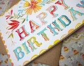 5 x 7 Happy Birthday Card