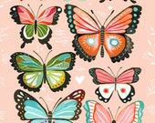 Butterfly Collection - Pink- 8x10 print