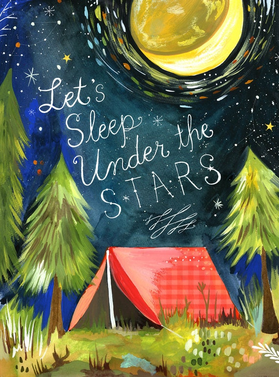 Sleep Under The Stars   -   vertical print
