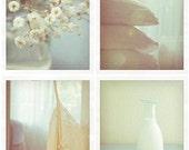 Morning Light in my Room 1 (Set of four 5x5 Unframed Original Fine Art Photograph)