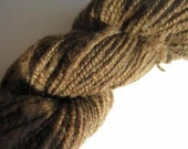 Handspun Shetland Wool 2 ply Yarn Natural Brown 3.9 oz/213 yards