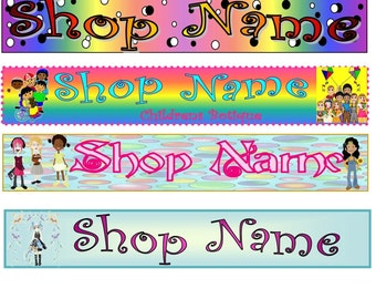 Children's Shop Banner for Customization