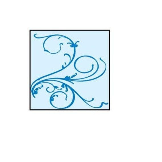 Etsy Shop Banner,  Customize Premade Blue Flourish Banner, Graphic Design Banner Set, Avatar Design, Blue Scroll Banner, Customizable Banner