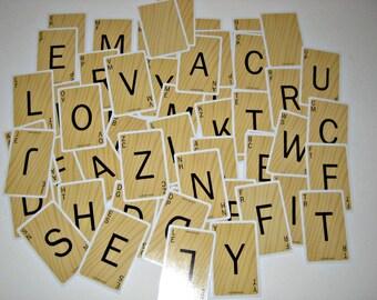 Scrabble Card Game - Scrabble Slam -  for Altered Art, Scrapbooking, etc.