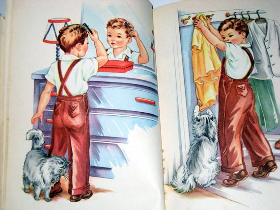 Vintage (1952) School book w/ Dick and Jane Like Illustrations - Teachers Edition