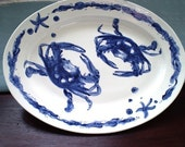 Blue Crab Serving Platter