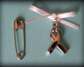 Ribbon Bouquet Charm - Cancer Awareness
